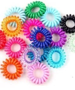 100Pcs-in-One-Pack-Elastic-Rainbow-Colorful-Telephone-font-b-Wire-b-font-Cord-Hair-font