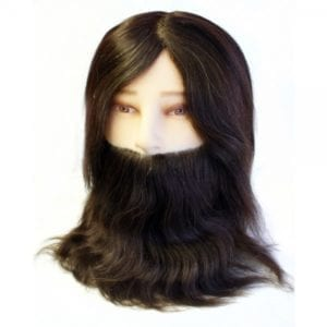 gents mannequin head with beard