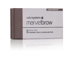 Marvelbrow Brow Trio Dark Brown pack
