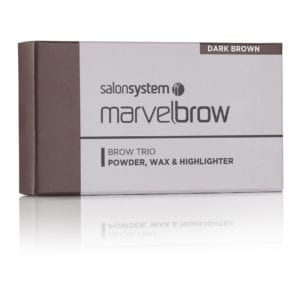 Marvelbrow Brow Trio Dark Brown pack
