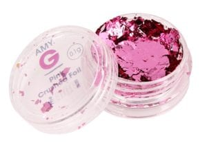 Amy G Pink Crushed Foil