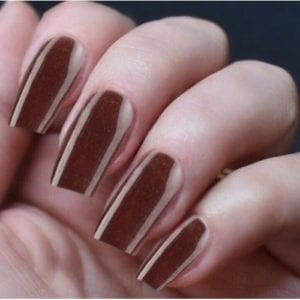 Hand Nails Blushed Bronze