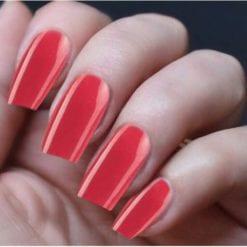 Hand Nails Hot Paprika