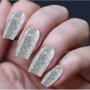 Hand Nails Smashed Diamonds
