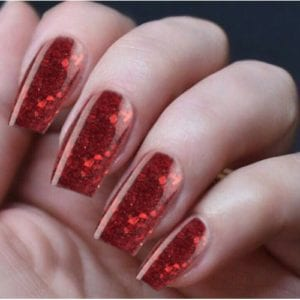 Hand Nails Smashed Rubies