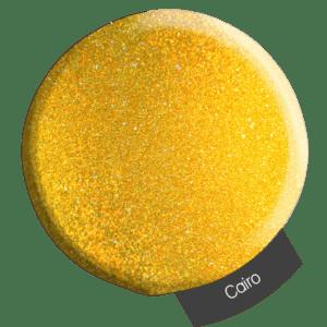 Yellow glitter powder