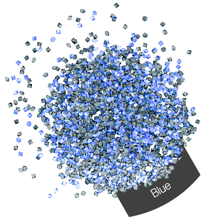 Micro Crystals Blue