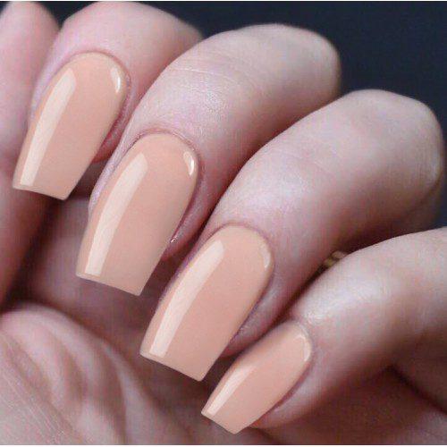 Peach coloured nails